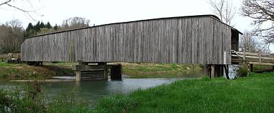Photograph - Springtime  Grays River Covered Bridge by Ansel Price