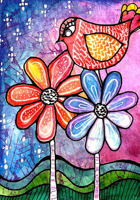 Aceo Painting - Springtime by Robin Mead