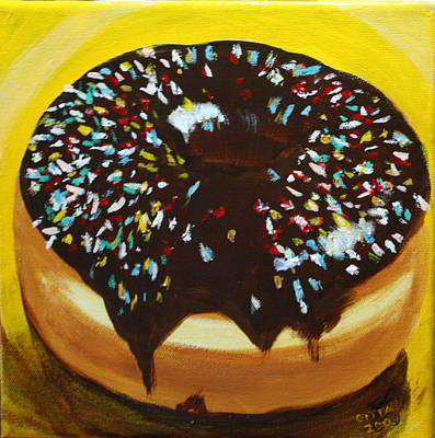 Sprinkle Donut Art Print