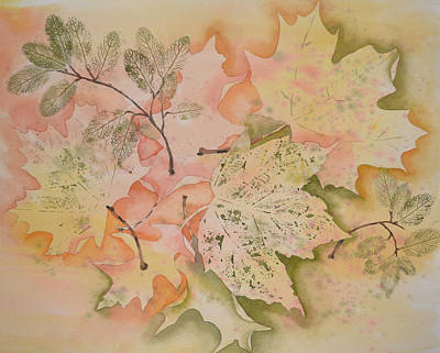 Painting - Sprinkling Of Leaves by Carol Bruno