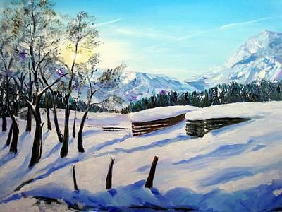 Karin Mueller Painting - Spuren Im Schnee by Karin Mueller