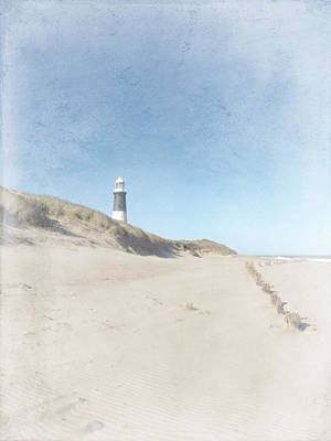 Spurn Point Lighthouse Texture Art Print