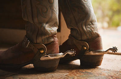 Working Cowboy Photograph - Spurs On Cowboy Boots by Tetra Images