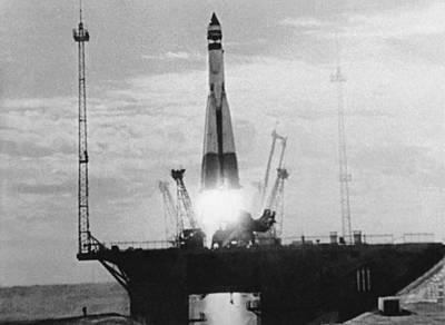 First Launch Photograph - Sputnik 1 Launch by Ria Novosti