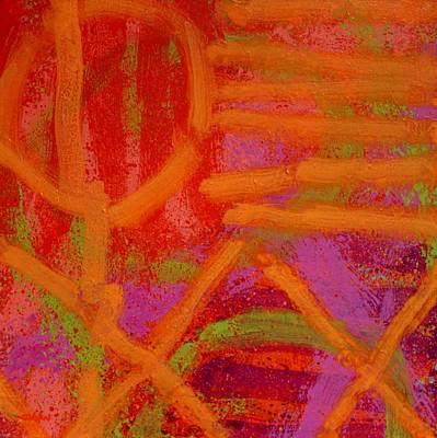 Abstract Expressionism Painting - Square Abstract by John  Nolan