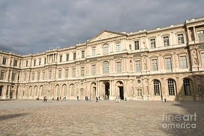 Photograph - Square Court Louvre by Fabrizio Ruggeri