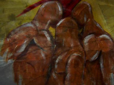 Figure Mixed Media - Squeezing Trhough by Joseph Ferguson