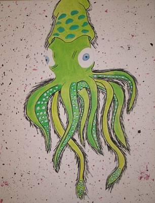 Painting - Squid by Samantha L