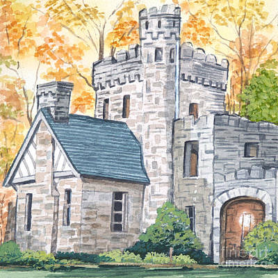 Haunted Castle Painting - Squires Castle by Lisa Urankar