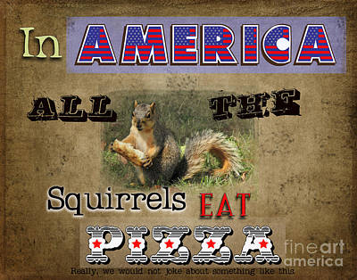 Photograph - Squirrels In America by David Arment