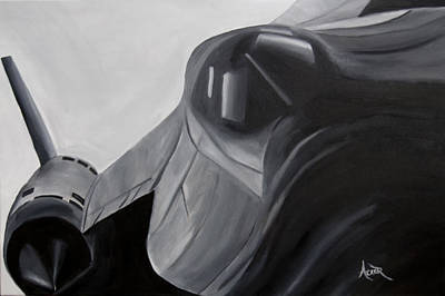 Sr-71 Painting - Sr-71 Blackbird by Aaron Acker
