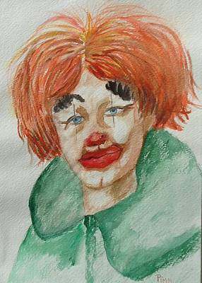 Painting - Ssend In The Clown by Betty Pimm