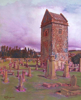 St Andrews Tower  Peebles Art Print by Richard James Digance
