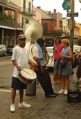 Sousaphone Wall Art - Photograph - St. Ann Street Musicians by Nancy Mitchell