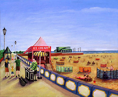 Donkey Painting - St Annes On Sea by Ronald Haber