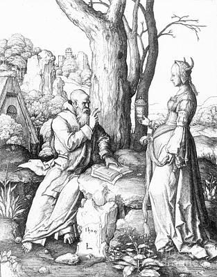St. Anthony (c250-355) Art Print by Granger