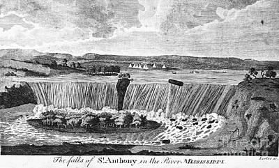1796 Photograph - St. Anthony Falls, 1796 by Granger