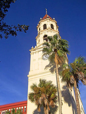 St. Augustine Church Clock Tower Art Print by Patricia Taylor