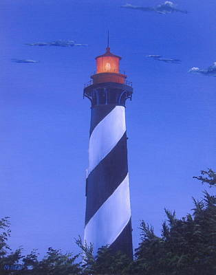Michael Allen Painting - St. Augustine Lighthouse by Michael Allen