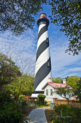 Photograph - St Augustine Lighthouse by Mike Fitzgerald