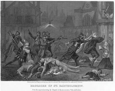 Discrimination Photograph - St Bartholomews Massacre by Granger