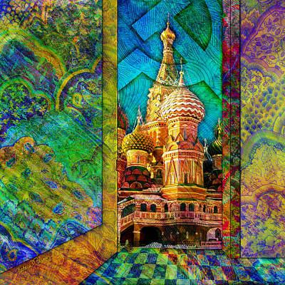 Digital Art - St Basils by Barbara Berney