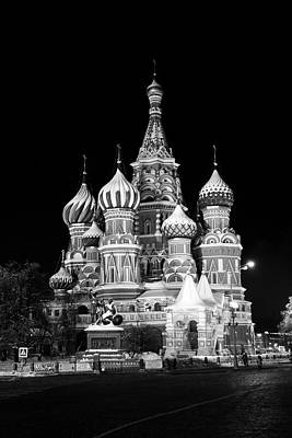 St Basils Church In Red Square  Art Print by Philip Neelamegam
