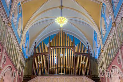 St. Bridget's Church Organ Pipes Art Print