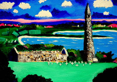 Painting - St Declans Church Ireland by Ted Hebbler