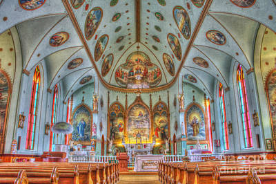 Photograph - St. Ignatius Catholic Church Interior Landscape by Katie LaSalle-Lowery