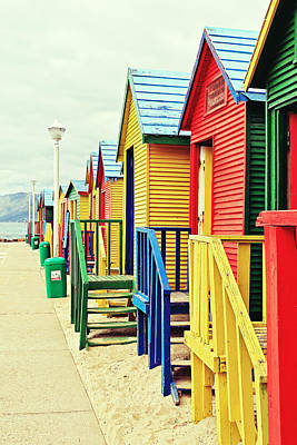 Public Bathing Photograph - St James Beach Huts by Benjamin Matthijs