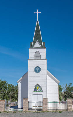 Daysray Photograph - St. John The Evangelist Catholic Church by Fran Riley
