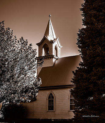 Photograph - St. John's Lutheran Church In The Trees by Edward Peterson