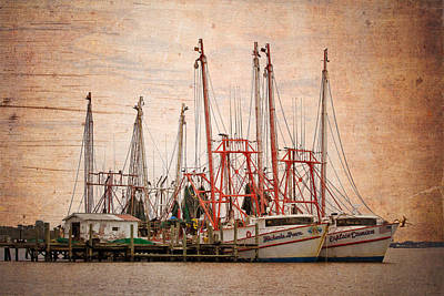 St John's Shrimping Art Print by Debra and Dave Vanderlaan