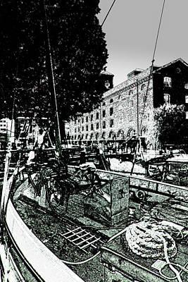 Boating Digital Art - St Katherines Dock London by David Pyatt