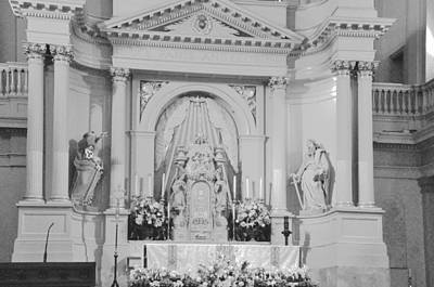 Photograph - St. Louis Cathedral Altar by Helen Haw