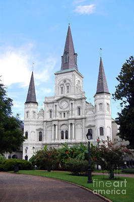 Digital Art - St Louis Cathedral Jackson Square French Quarter New Orleans Ink Outlines Digital by Shawn O'Brien