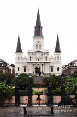Scenic Landscape Photograph - St Louis Cathedral On Jackson Square In The French Quarter New Orleans Diffuse Glow Digital Art by Shawn O'Brien