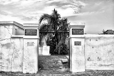New Orleans Cemeteries Digital Art - St Louis Cemetery Gate - New Orleans by Bill Cannon