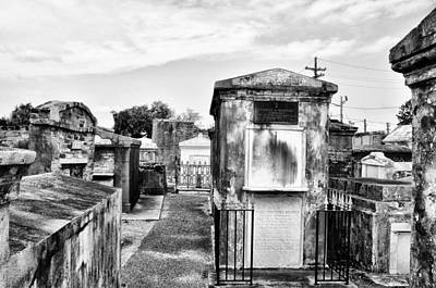 New Orleans Cemeteries Digital Art - St Louis Cemetery - New Orleans by Bill Cannon