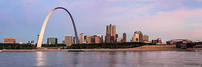 Photograph - St Louis Skyline And The Arch At Sunrise by Semmick Photo