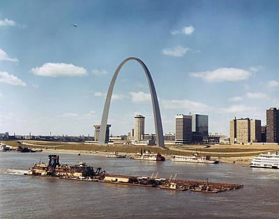 St. Louis: Waterfront Art Print by Granger