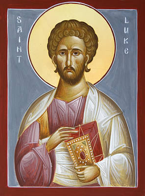 Saint Luke The Evangelist Painting - St Luke The Evangelist by Julia Bridget Hayes