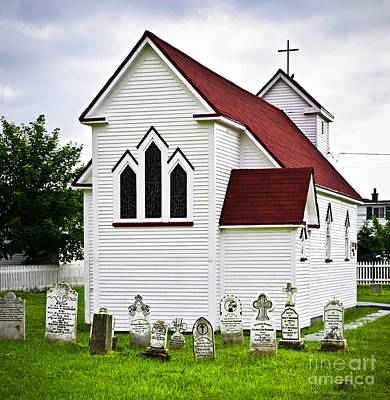 St. Luke's Church And Cemetery In Placentia Art Print