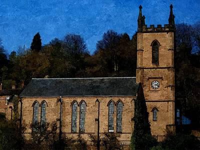 St Luke's Church Ironbridge Art Print