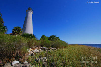 Photograph - St Marks Lighthouse Along The Gulf Coastst by Barbara Bowen