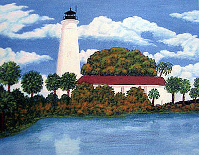 Painting - St Marks Lighthouse Painting by Frederic Kohli