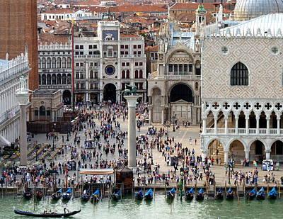 Venice Photograph - St. Marks Square Crowds by Carla Parris