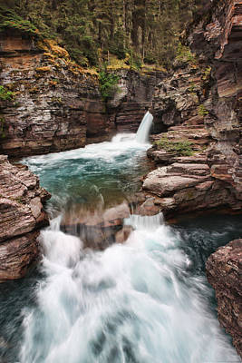 Photograph - St. Mary Falls Glacier National Park by Shari Jardina