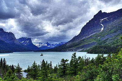Photograph - St. Mary Lake by Don Wolf
